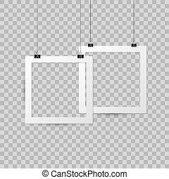 Mock up photo frame