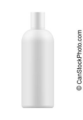 Mock-up plastic bottle for shampoo. - Empty and clean white ...
