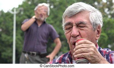 Mocking Depressed Alcoholic Man