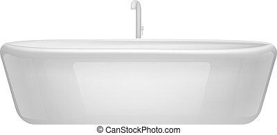 mockup, 現実的, 浴室, 浴槽, スタイル