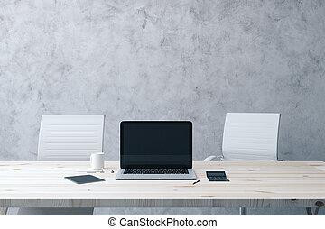mockup black laptop monitor