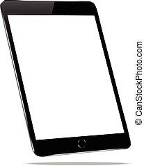 mockup black tablet isolated on white vector design