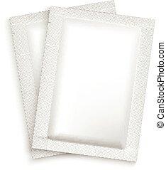 Mockup Blank Foil Packaging. - Mockup Blank Foil Packaging...