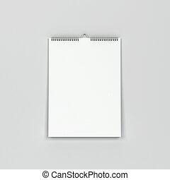 mockup, calendario, parete