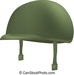 mockup, casco, estilo, verde, realista