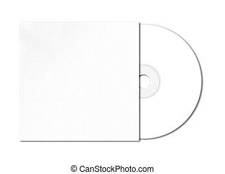 mockup, dvd, -, aislado, cd, plantilla, blanco