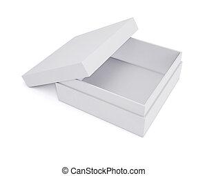 mockup, isolato, fondo., scatole, bianco, design., interpretazione, tuo, 3d