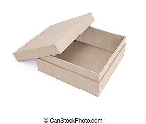 mockup, isolato, fondo., scatole, design., bianco, cartone, interpretazione, tuo, 3d
