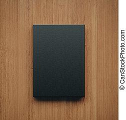Mockup of blank classic black book. 3d rendering