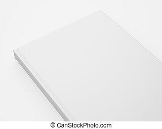 Mockup of blank part white book. 3d rendering