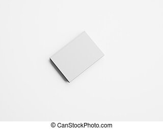 Mockup of blank small white book. 3d rendering