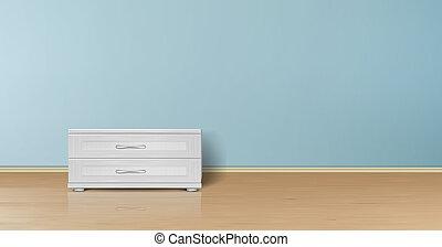 mockup of empty room, minimalist interior