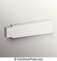 mockup of foldable ruler template