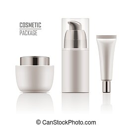 Mockup of packages for cosmetic. - Collection blank template...