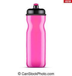Mockup Plastic Sport Nutrition Drink Bottle. - Mock-up...