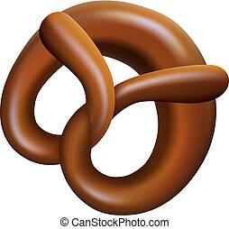 mockup, realístico, bavarian, estilo, pretzel