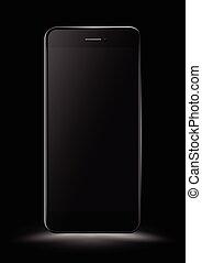 mockup., smartphone, 黒
