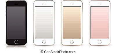 mockup., smartphone, style, iphone