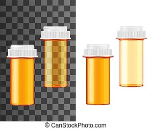 mockups, 丸薬, 現実的, medecine, びん, ジャー