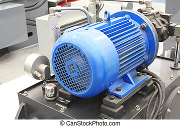 mocný, elektrický, motory, jako, moderní, průmyslový vybavení