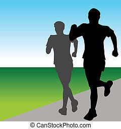 mocny, biegacze