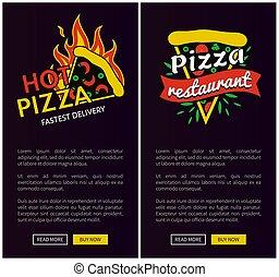 mocny, promocyjny, doręczenie, online, afisze, pizza