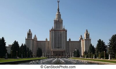 MOCSOW - SEPTEMBER 5: Moscow State University September 5,...