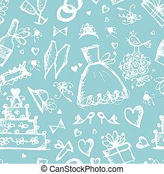 modèle, éléments, conception, seamless, mariage