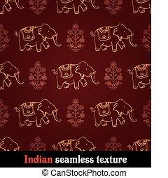 modèle, éléphant indien