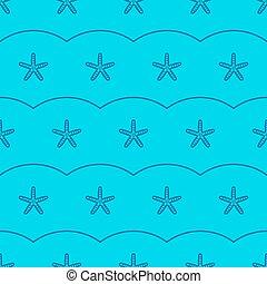 modèle étoile mer, seamless, vecteur, mer, marin