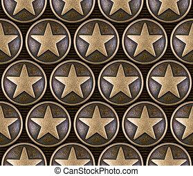 modèle, étoile,  seamless,  bronze