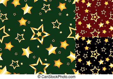 modèle, étoile, seamless, or