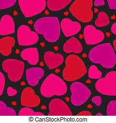 modèle, 8, hearts., seamless, eps