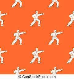 modèle, aikido, combattant, seamless