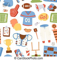 modèle, américain, vecteur, illustration, football