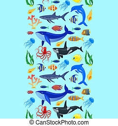 modèle, animaux, océan