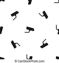 modèle, appareil photo, noir, seamless, surveillance