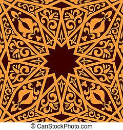 modèle, arabe, éléments, seamless, géométrique
