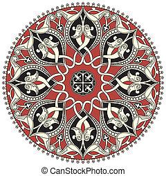 modèle, arabe, circulaire