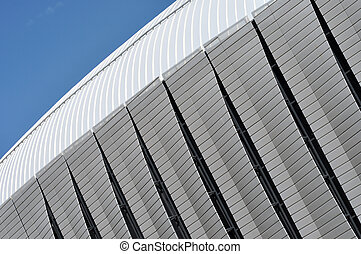 modèle, architecture moderne, stade