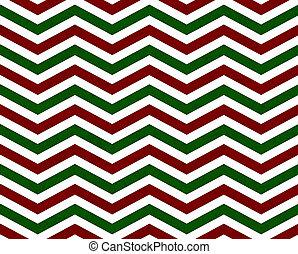 modèle, arrière-plan vert, zigzag, rouges