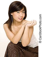 modèle, asiatique, 7