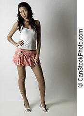 modèle, asiatique