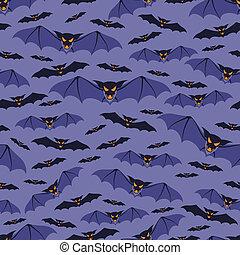 modèle, bats., halloween, seamless