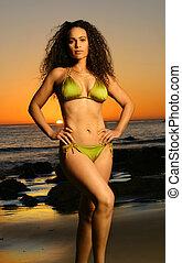 modèle, bikini