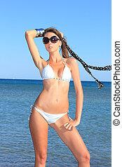 modèle, bikini, sexy
