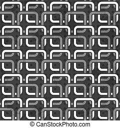 modèle, blanc, chaînes, noir, seamless