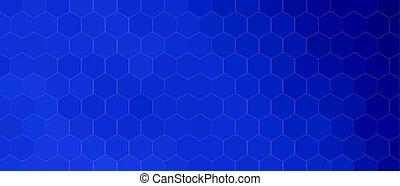 modèle, bleu, hexagonal, fond, différent, nuances, formes