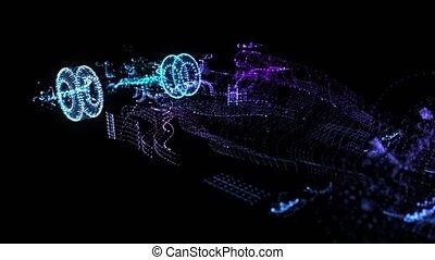 modèle, boucle, structure., points, concept, voiture,...