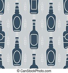 modèle, bouteilles bière, seamless